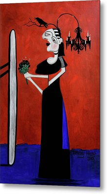 The Gothic Brides Maid Metal Print