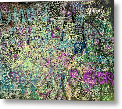 Metal Print featuring the photograph The Graffiti Wall - Verona, Italy by Merton Allen