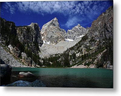 The Grand And Mount Owen From Delta Lake Metal Print by Raymond Salani III