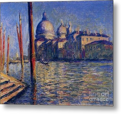 The Grand Canal And Santa Maria Metal Print by Monet