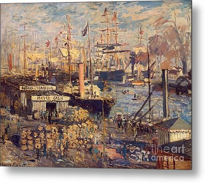 The Grand Dock At Le Havre Metal Print by Monet