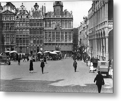 The Grand Place In Brussels Metal Print