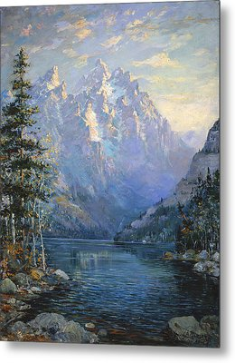 The Grand Tetons And Jenny Lake Metal Print