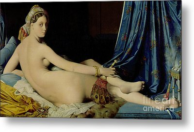 The Grande Odalisque Metal Print by Ingres