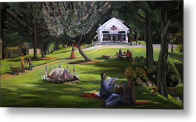 The Granville Green Metal Print by Nancy Griswold