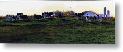 The Grass Is Greener Metal Print by Denny Bond