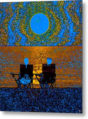 The Great Blue Moon Metal Print