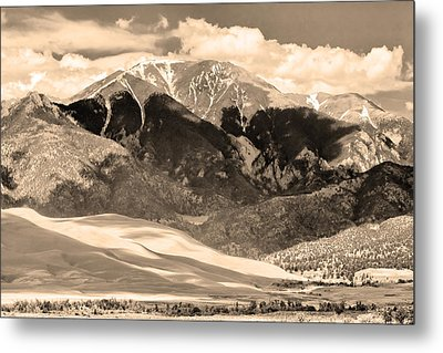 The Great Colorado Sand Dunes In Sepia Metal Print by James BO  Insogna