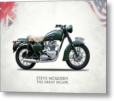 The Great Escape Motorcycle Metal Print by Mark Rogan