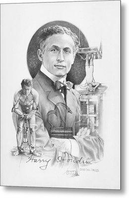 The Great Houdini Metal Print by Steven Paul Carlson