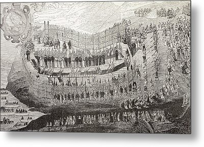 The Great Martydom Of Nagasaki, 1622 Metal Print by Vintage Design Pics