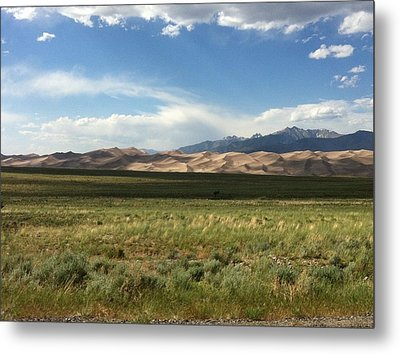 Metal Print featuring the photograph The Great Sand Dunes by Christin Brodie