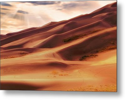 The Great Sand Dunes Of Colorado - Landscape - Sunset Metal Print by Jason Politte
