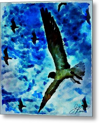 Metal Print featuring the painting The Great Seagull by Joan Reese