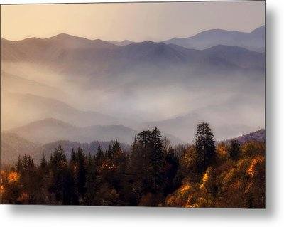 Metal Print featuring the photograph The Great Smoky Mountains by Ellen Heaverlo