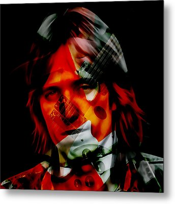 Metal Print featuring the mixed media The Great Tom Petty by Marvin Blaine