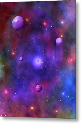 Metal Print featuring the digital art The Great Unknown by Bernd Hau