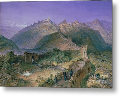 The Great Wall Of China Metal Print by William Simpson