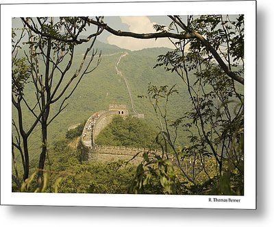 Metal Print featuring the photograph The Great Wall by R Thomas Berner