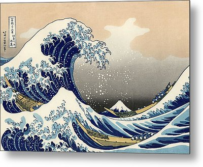 Metal Print featuring the photograph The Great Wave Off Kanagawa by Katsushika Hokusai
