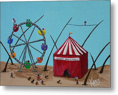 The Greatest Show On Fido Metal Print by Kerri Ertman