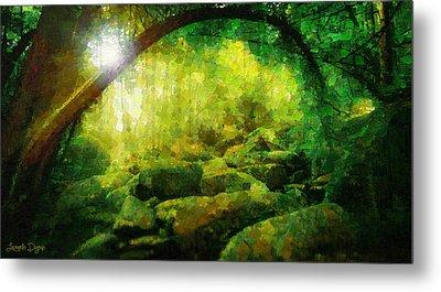 The Green Forest - Pa Metal Print by Leonardo Digenio