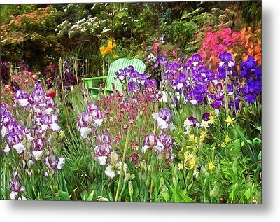 Metal Print featuring the photograph Hiding In The Garden by Thom Zehrfeld