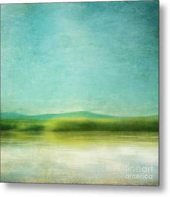 The Green Haze Metal Print by Priska Wettstein