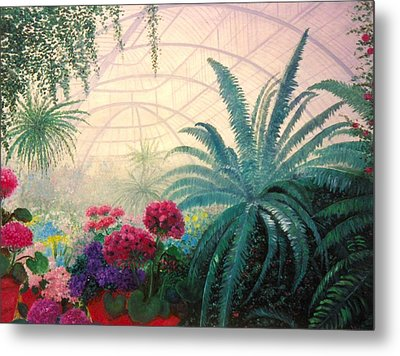The Green House Metal Print by Jeanene Stein