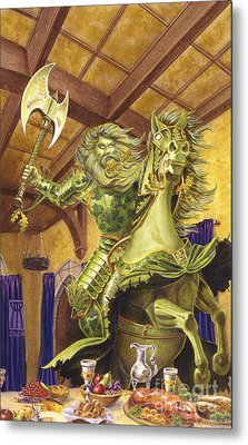 The Green Knight Metal Print by Melissa A Benson