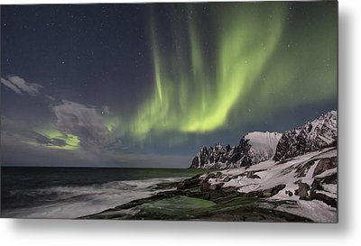 The Green Magic From The Sky Metal Print