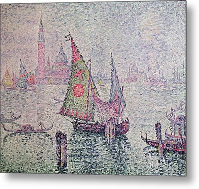 The Green Sail Metal Print by Paul Signac