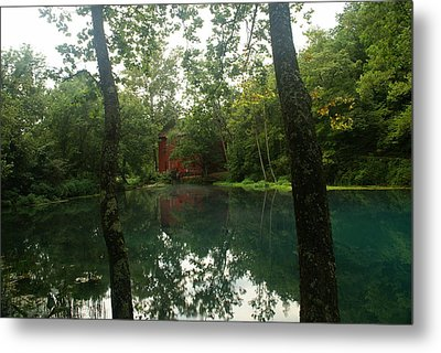 The Grist Mill At Alley Springs Metal Print