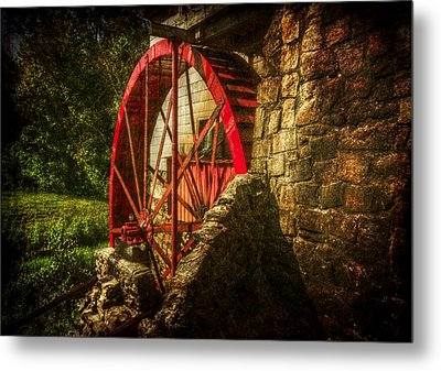 The Gristmill's Waterwheel Metal Print