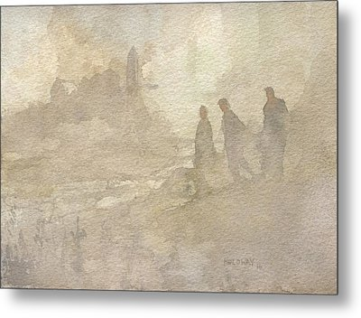 The Group Comes Out Of The Wilderness Metal Print