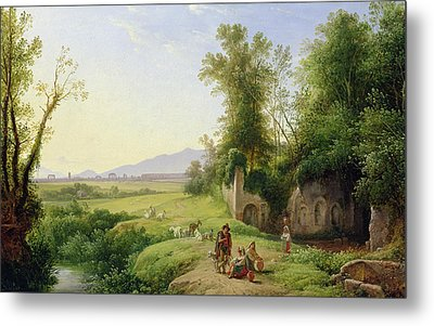 The Grove Of Egeria  Metal Print by Franz Ludwig Catel