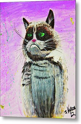 The Grumpy Cat From The Internets Metal Print by eVol i