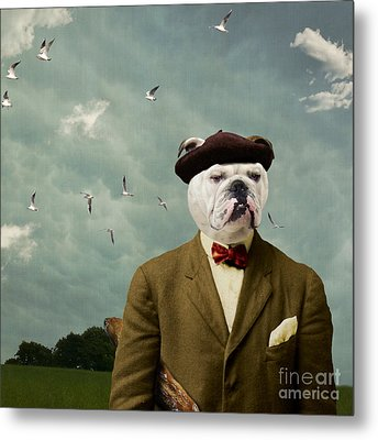 The Grumpy Man Metal Print by Martine Roch