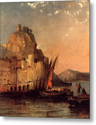 The Gulf Of Salerno Metal Print by MotionAge Designs