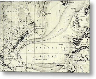 The Gulf Stream Of The Atlantic Ocean Metal Print