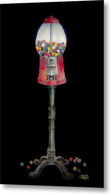The Gumball Machine Metal Print by Arline Wagner