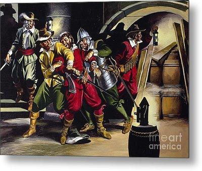 The Gunpowder Plot Metal Print by Ron Embleton
