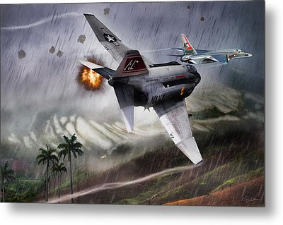 The Hanoi Jane Mission Metal Print by Peter Chilelli