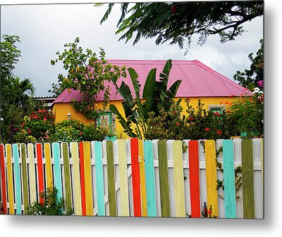 Metal Print featuring the photograph The Happy House, Island Of Curacao by Kurt Van Wagner