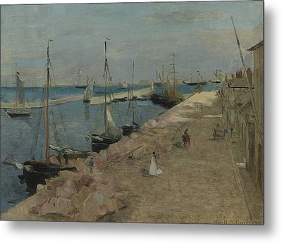 The Harbor At Cherbourg Metal Print