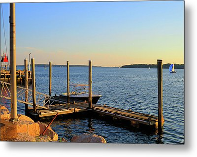 Metal Print featuring the photograph The Harbor Bristol Rhode Island by Tom Prendergast