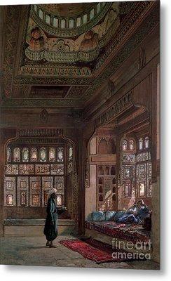 The Harem Of Sheikh Sadat, Cairo, 1870 Metal Print