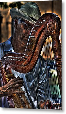 The Harp Player Metal Print by David Patterson