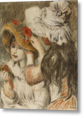 The Hatpin Metal Print by  Pierre Auguste Renoir