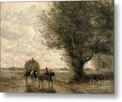 The Haycart Metal Print